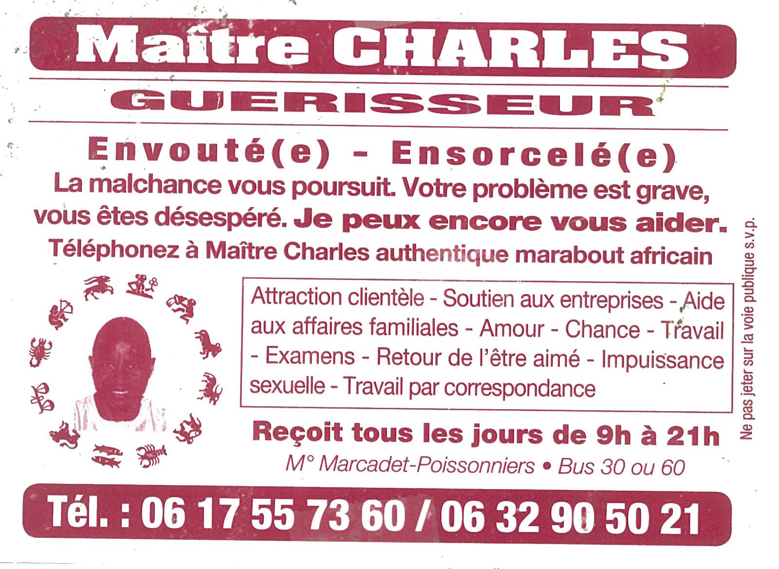 Maitre Charles Rouge Plein