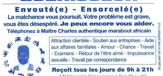 Maitre Charles Bleu Plein