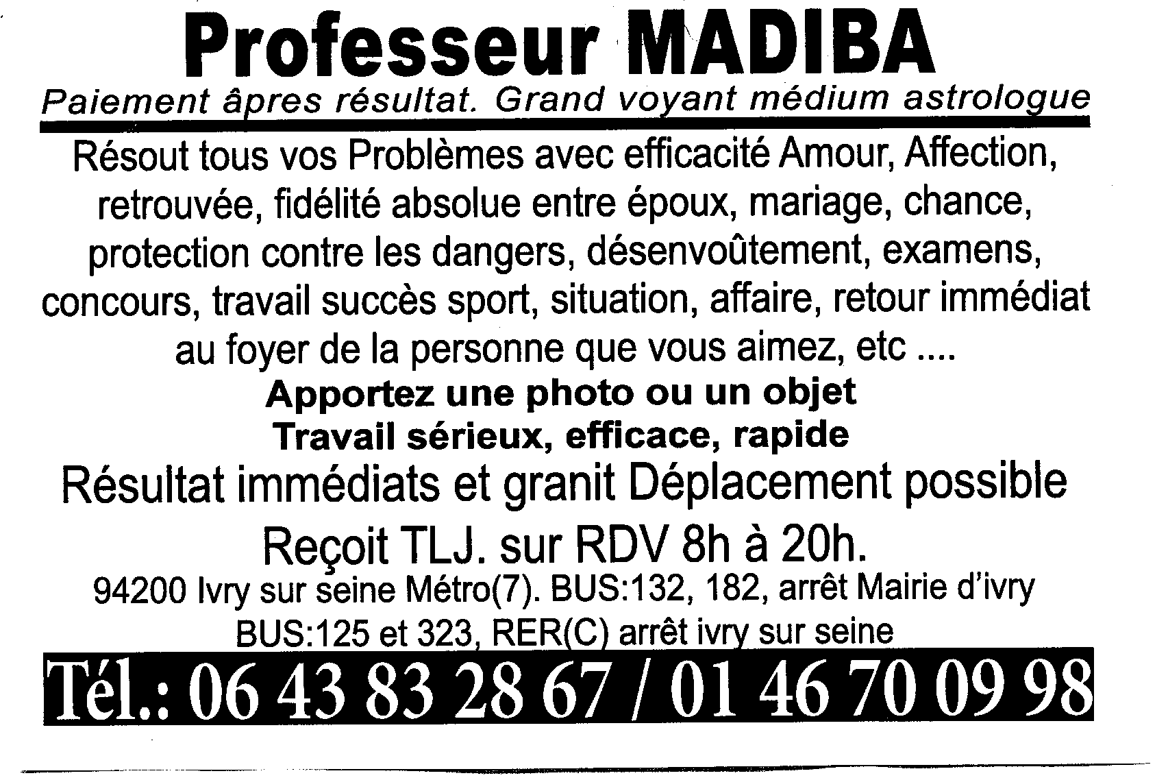 Prof Madiba