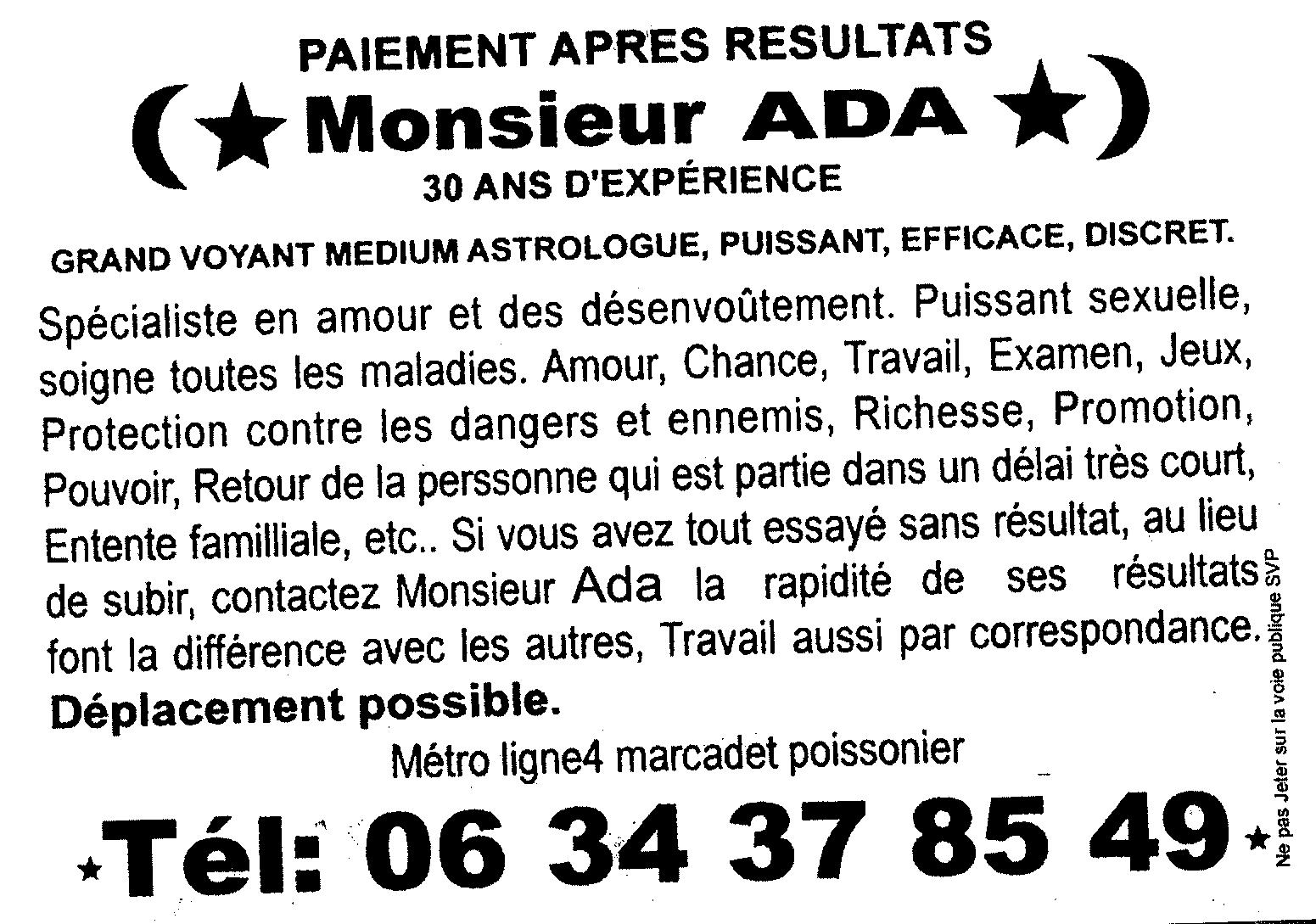 Monsieur ADA