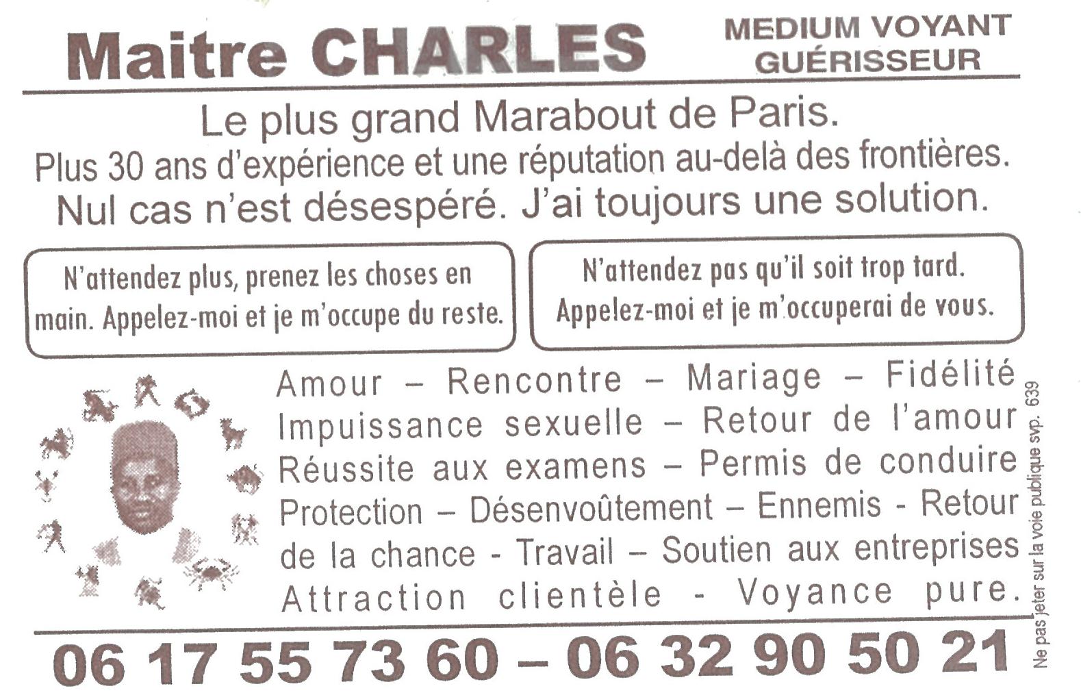 Maitre Charles OLD