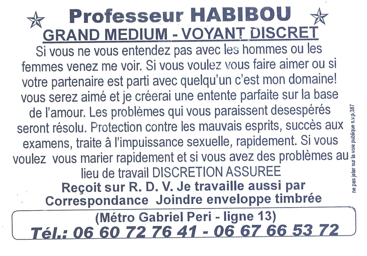 Prof Habibou Bleu