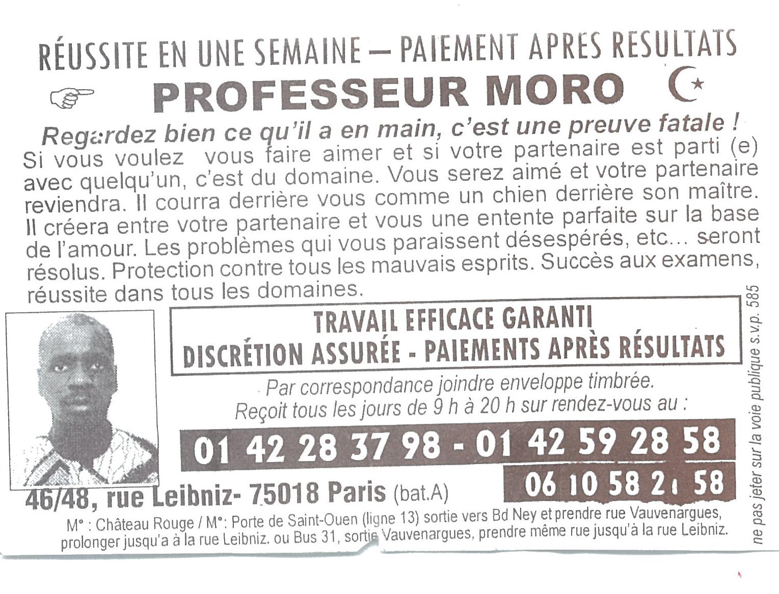 Prof Moro